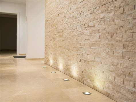 Beleuchtung Natursteinwand Wohnzimmer by Moderne Dekoration Beleuchtung Fur Steinwande Images