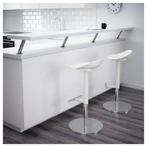 white counter stools ikea janinge bar stool white 76 cm ikea
