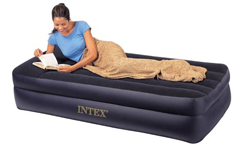 air beds intex raised twin pillow rest air mattress