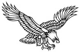Flying Eagle Outline by 28 Flying Eagle Tattoos Designs