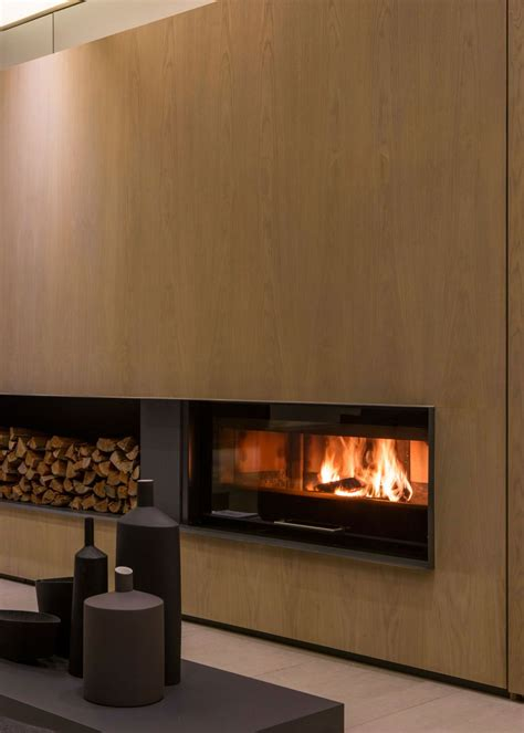 der on fireplace single story modern house design house sar by nico