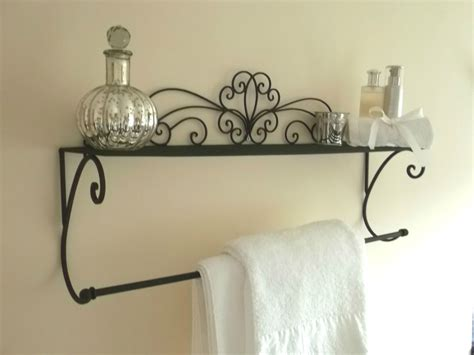 Black Metal Wall Shelf Black Metal Wall Mounted Towel Rail Shelf Amazing