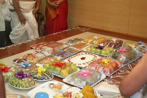decoratve plates at indian wedding   Annaprashana