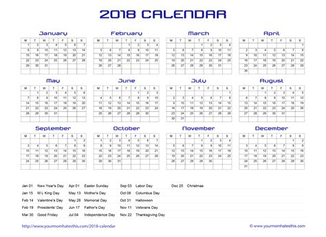 Transparent Calendar Template 2018 Calendar Transparent Merry Christmas And Happy New Year 2018