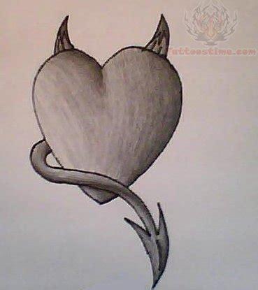 devil heart tattoo designs images designs