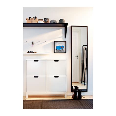 stall shoe cabinet hack st 196 ll shoe cabinet with 4 compartments white 96x90 cm ikea