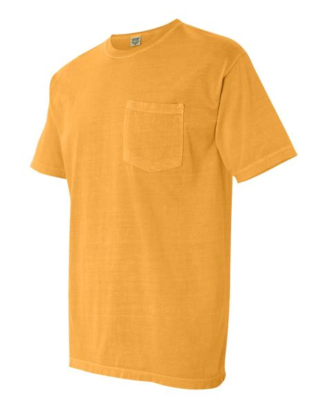 comfort colors mens pigment sleeve shirt with pocket