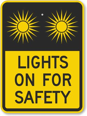 what lights are a safety hazard on the christmas tree lights on for safety with graphic sign sku k 6672 mysafetysign