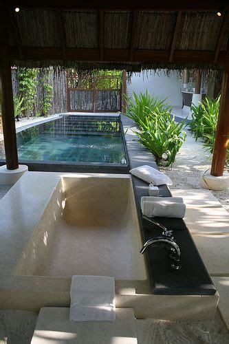 outdoor bathroom for pool 168 best images about indoor outdoor spa sanctuaries on