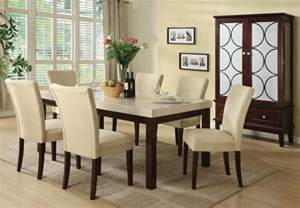 marble dining room sets 5 pc faux marble dining table set a70495 savvy shopper