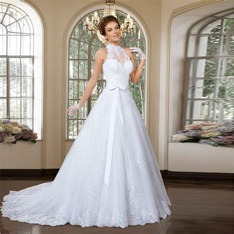 Halter Neck Wedding Dress by Halter Neckline Wedding Dress Www Pixshark Images