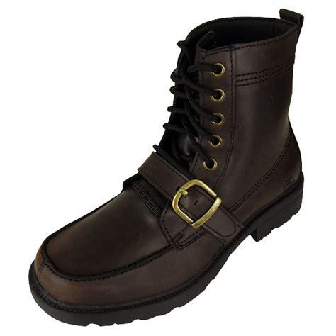 biker boots uk mens skechers glenn cinder leather army boot