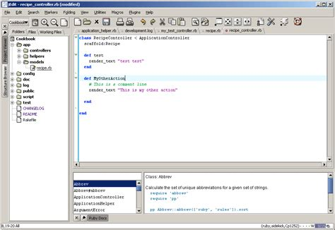 coding hints dreamweaver 8 and ruby on rails codehints bdc software inc