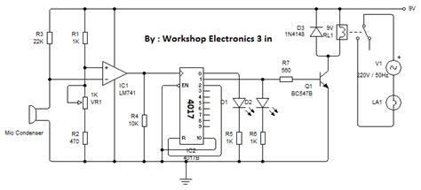 Bohlam Saklar Sensor Tepuk rangkaian saklar lu dengan sensor suara tepuk yang bisa on dan edukasi elektronika