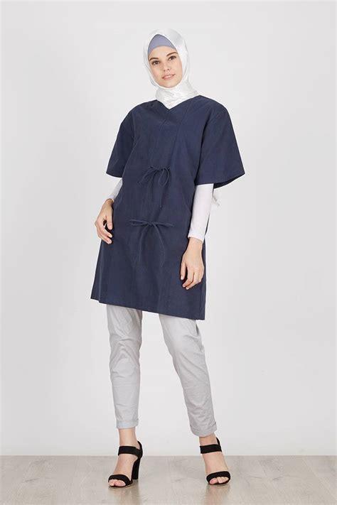 Sale Kemeja Polos Grey Lengan Pendek Baby Canvas sell lusi top navy tops hijabenka