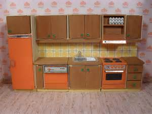 Dolls House Kitchen Furniture Vintage Lundby Dollhouse Modern Kitchen Set From 1976