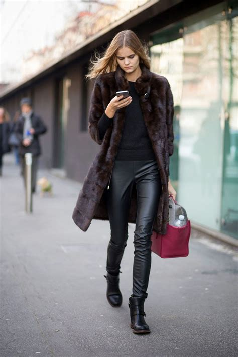 Leather Styles by Model Style Kate Grigorieva S Textured Look The