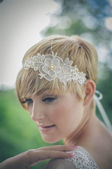 hairstyles with pearl headband 94 best short bridal hairstyles images on pinterest hair