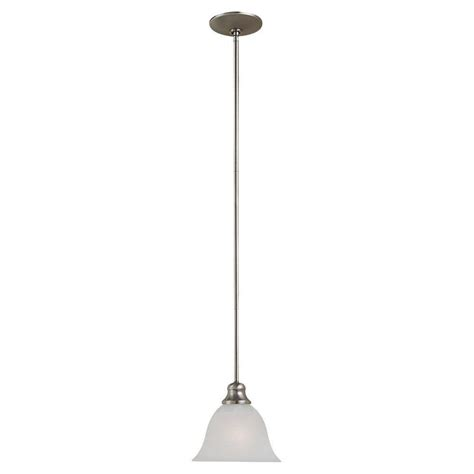 Mini Pendant Light Shade Sea Gull Lighting Windgate 1 Light Brushed Nickel Mini Pendant With Alabaster Glass Shade 61940