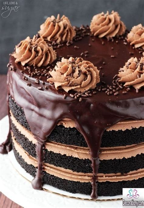 17 Tasty Chocolate Cake Recipe Decorating ideas   Cake