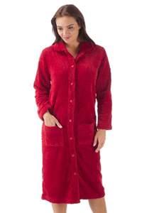 peignoir femme 224 boutons robe de chambre polaire hiver