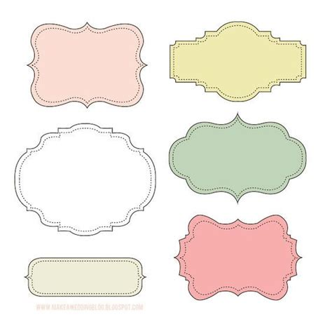 free label frame printables arabescos pinterest quadros