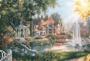 jigsaw puzzle plaza 拼圖廣場 landscape 日本風景畫山水畫砌圖 1000 446 village