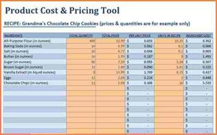 Cost Sheet Template Excel by 9 Pricing Spreadsheet Template Excel Spreadsheets