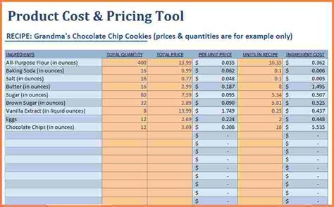 9 pricing spreadsheet template excel spreadsheets group