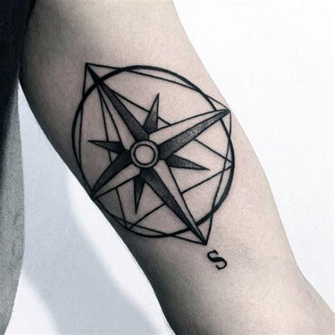compass tattoo minimalist 90 minimalist tattoo designs for men simplistic ink ideas