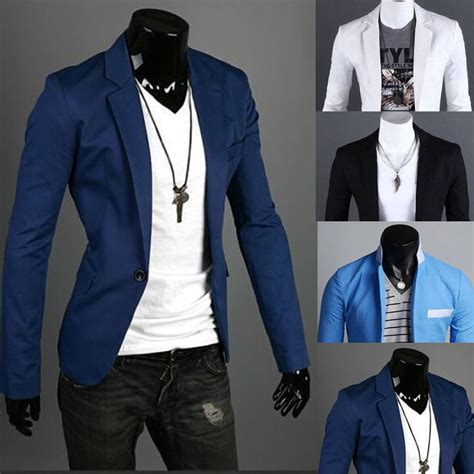 Charm Fit Slim 0 1 16p stylish charm s casual slim fit one button top suit