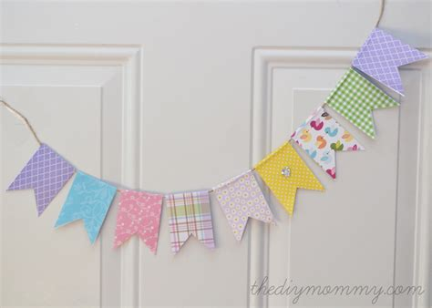 How To Make Paper Pennant Banner - make an easy banner with scrapbook paper the diy