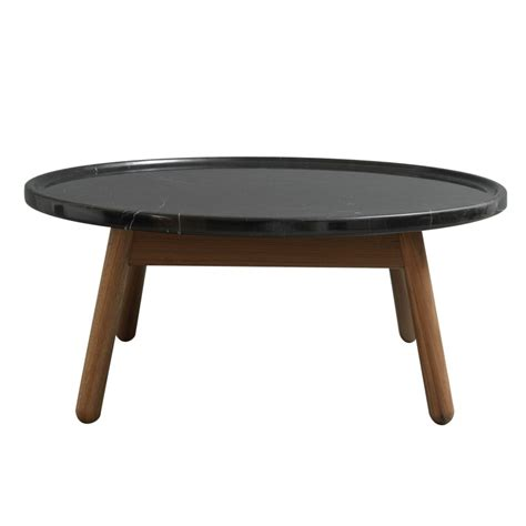 Black Marble Coffee Table Carve Coffee Table Walnut Base Black Marble Top By Bethan Gray