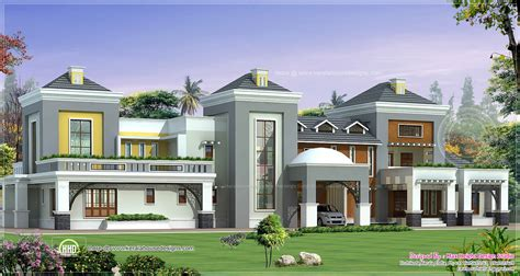 Luxurious Home Plans Luxury House Plan With Photo Kerala Home Design And Floor Plans