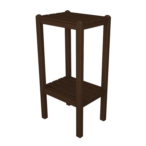 side table height polywood bar height side end table outdoor all weather