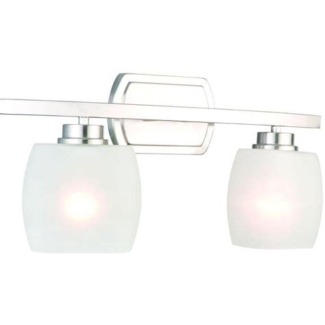 hton bay 4 light vanity fixture hton bay tamworth 2 light brushed nickel vanity light with frosted glass shades iex1392a 2