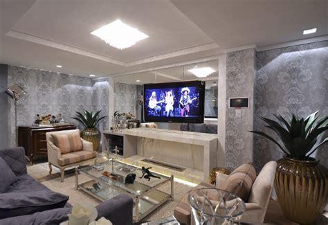 www living construindo minha casa clean salas modernas com papel de