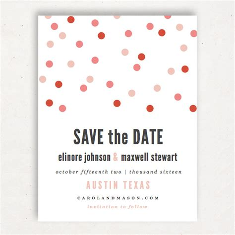 printable save the date template instant download confetti
