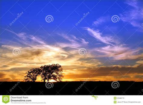 illinois prairie sunset prairie sunset landscape illinois stock photo