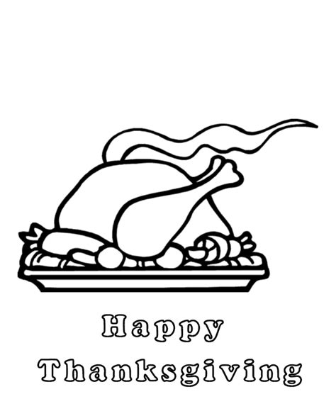 roast turkey coloring page turkey dinner pictures cliparts co