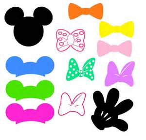 mickey mouse ears bows hand glove svg png and by