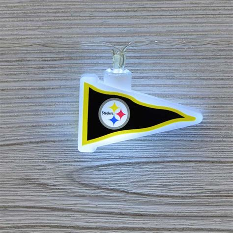 nfl pittsburgh steelers led pennant lights battery operated