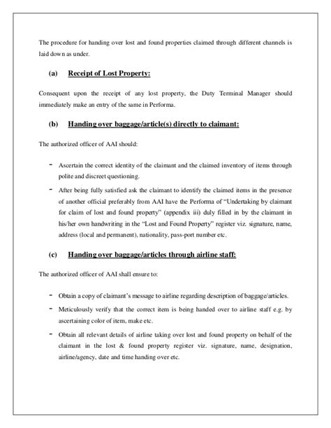 Report Letter For Lost Item Sle Complaint Letter Airline Lost Luggage