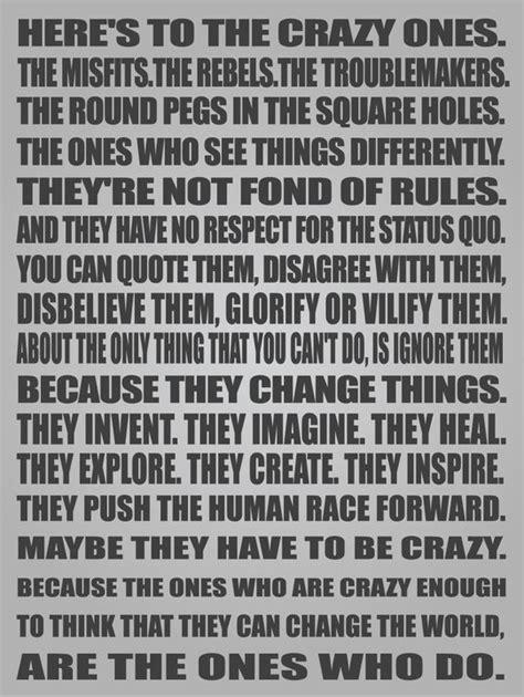 apple kerouac here s to the crazy ones apple s manifesto a pop of