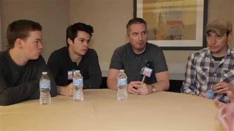 fan reactions to the maze runner movie moviepilot com dylan o brien and will poulter on the incredible fan