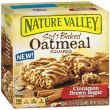 Nature Valley Detox by Nature Valley Soft Baked Oatmeal Squares Cinnamon Brown