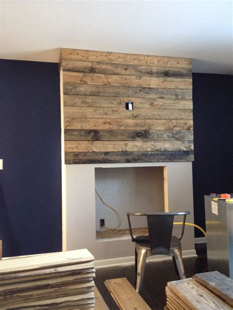 Reclaimed Fireplace by How To Create A Diy Reclaimed Wood Fireplace Surround For