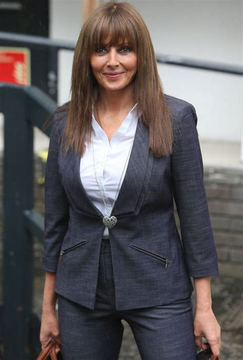 carol vorderman leaves loose women wearing  smart trouser