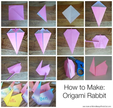 How To Make A Paper Rabbit - easter dinner ideas honeybaked ham and easter placecards