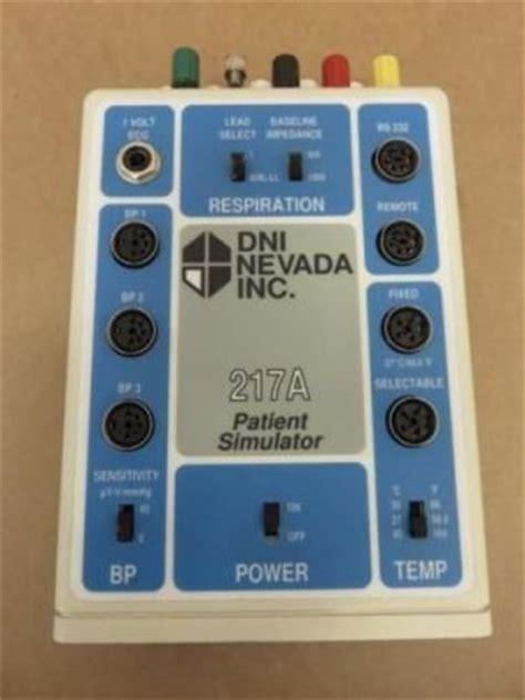 used dynatech nevada inc. 217a patient simulator se de